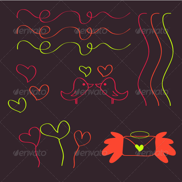 GraphicRiver Valentine Set 3878673