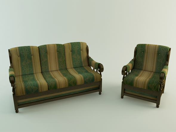 3DOcean Realistic Sofa 3952100