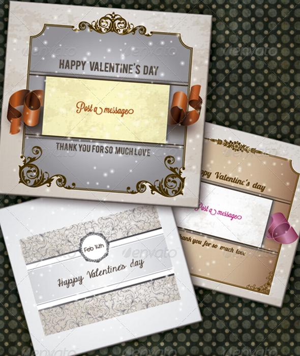 GraphicRiver Valentine's Day Card Set 3881639