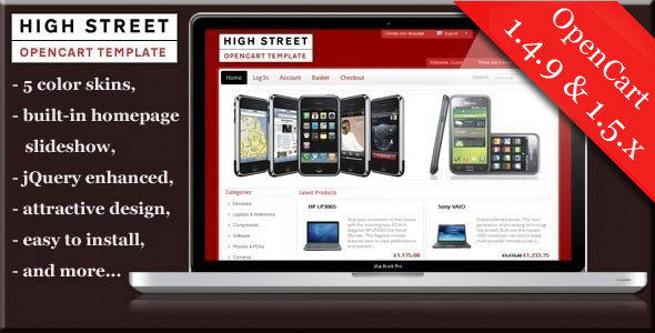 High Street premium Opencart theme