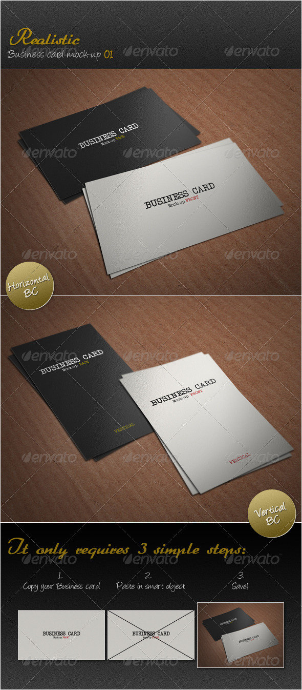 GraphicRiver Realistic Business Card Mock-up 01 3952367