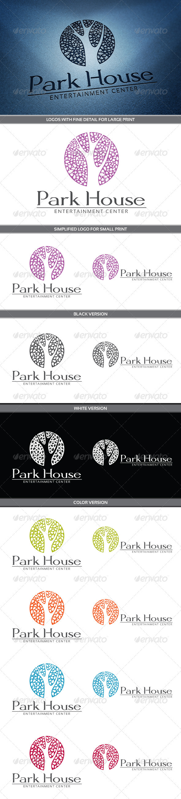 GraphicRiver Park House Logo 3800993