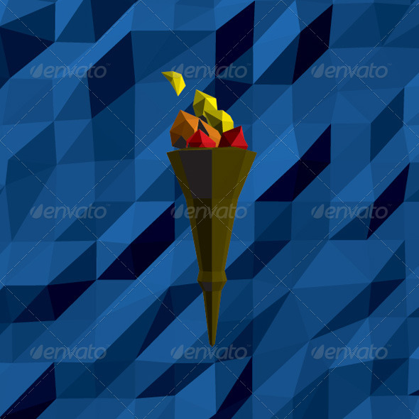 GraphicRiver Low-poly Torch 3952384