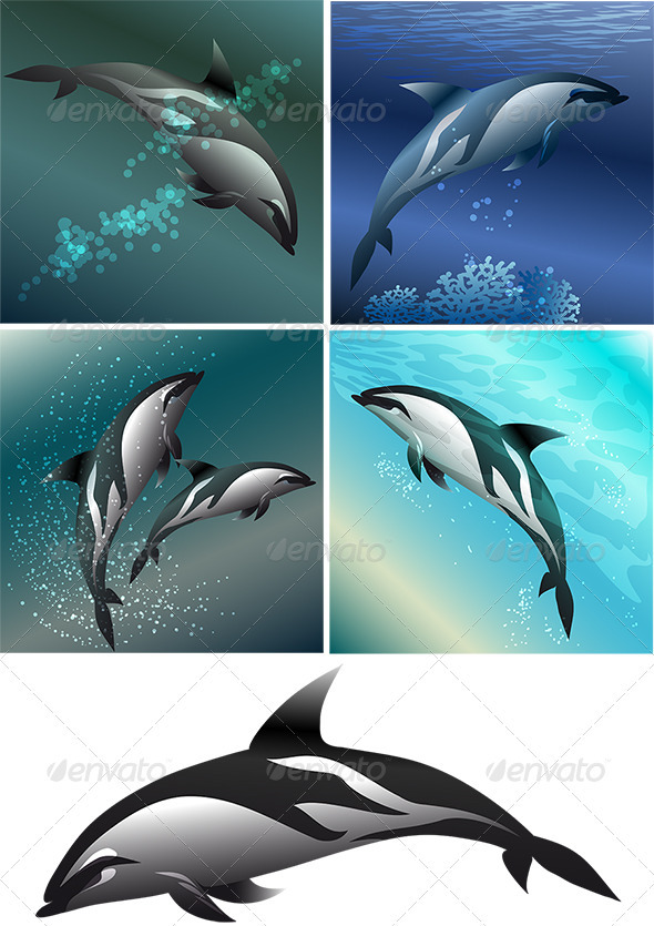 GraphicRiver Dolphin Set 3952394