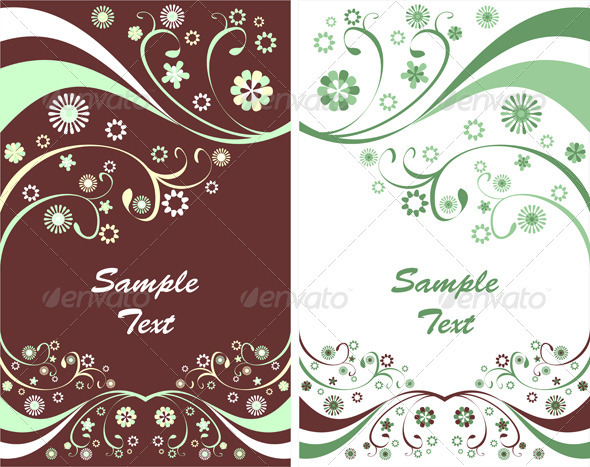 GraphicRiver Two Spring Flyers or Floral Backgrounds 3952492