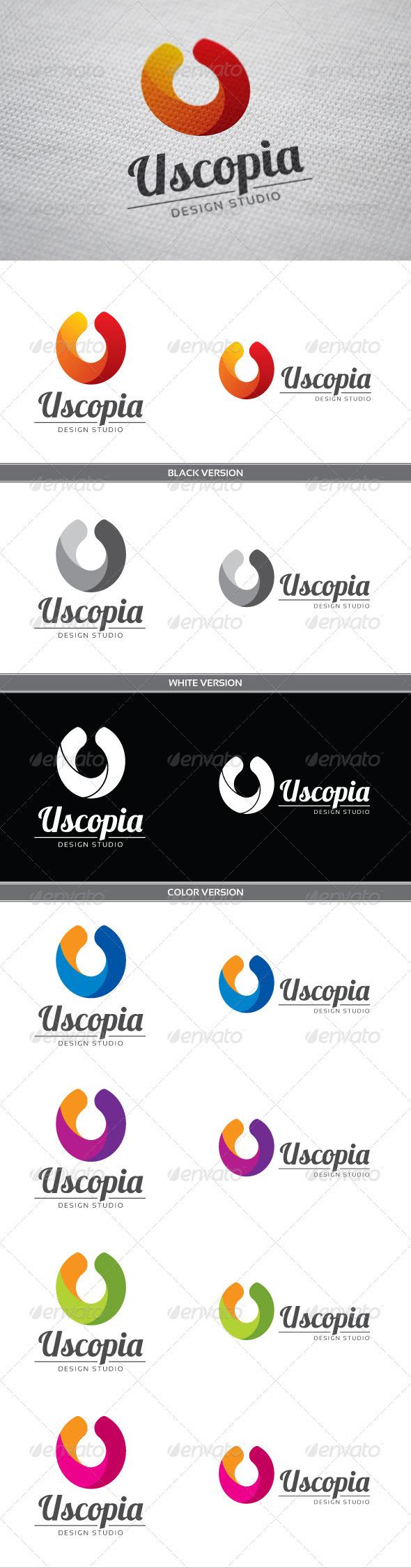 GraphicRiver Uscopia U Letter Logo 3820474