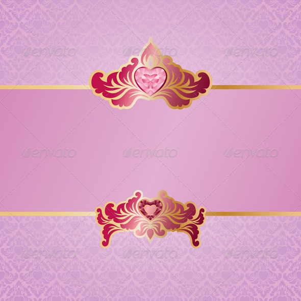 GraphicRiver Valentine Ornament Background 3771009