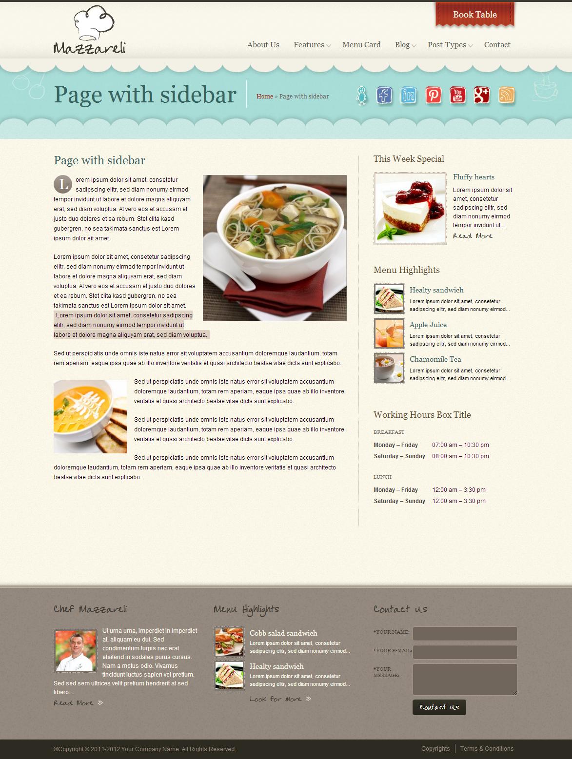 Mazzareli WordPress Theme