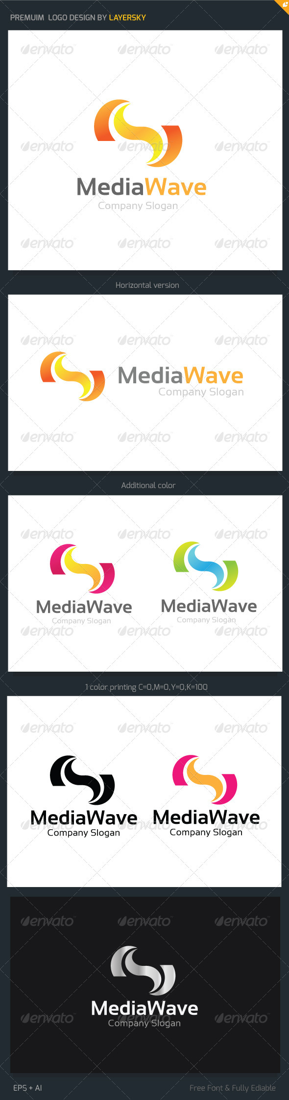 GraphicRiver Media Wave Logo 3825747
