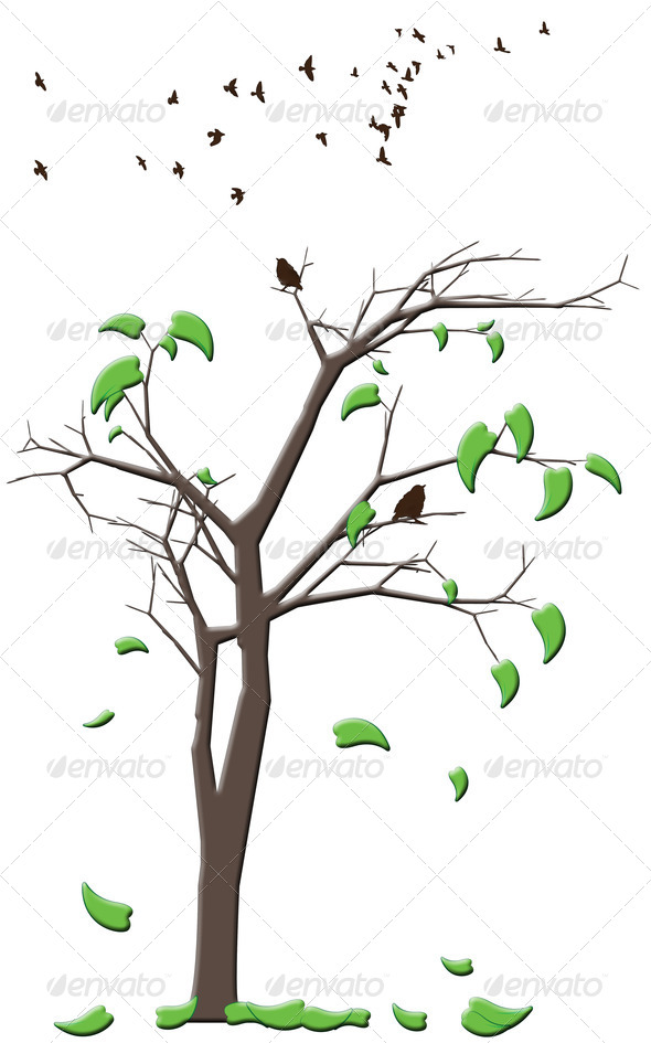 Fall Tree Illustration Illustration of a Tree With