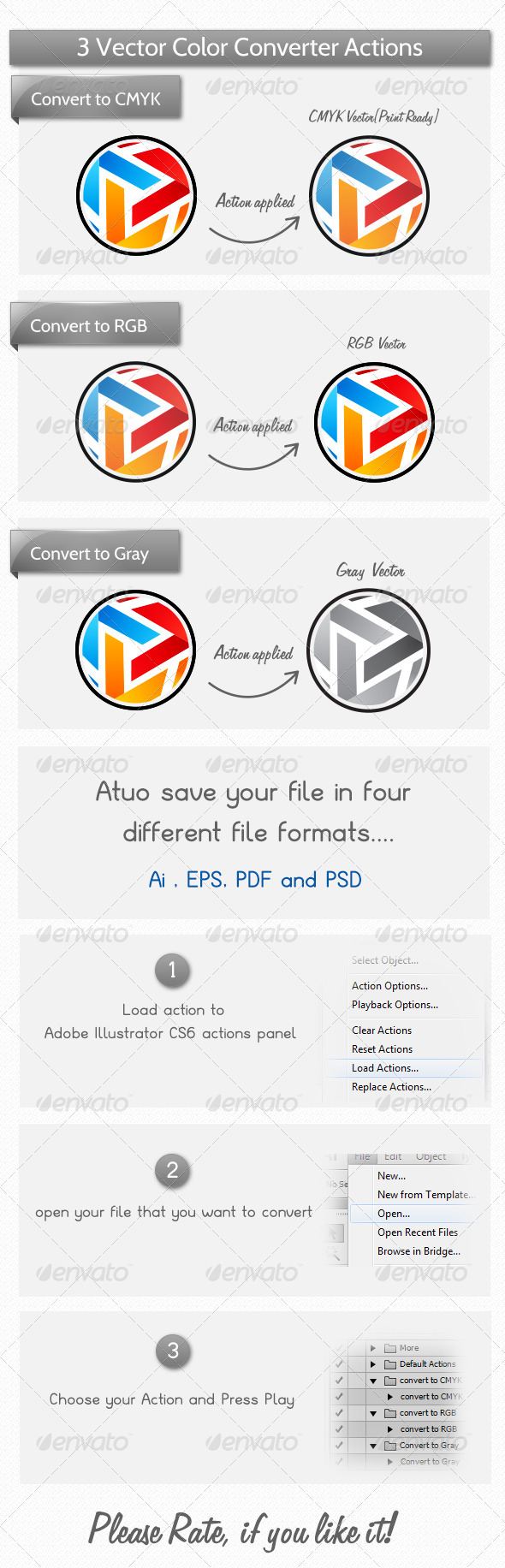 GraphicRiver Vector Color Mode Actions 3955178