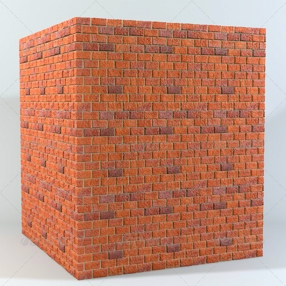 3DOcean Seamless Tileable Brick Wall Texture 3955561