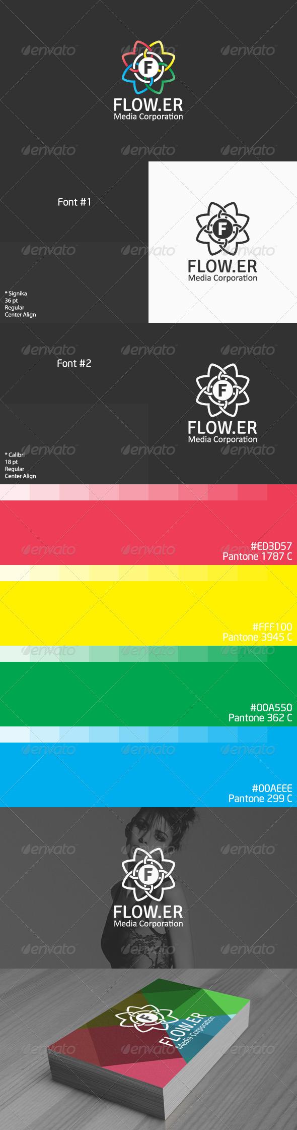 GraphicRiver Flower Logo 3955605