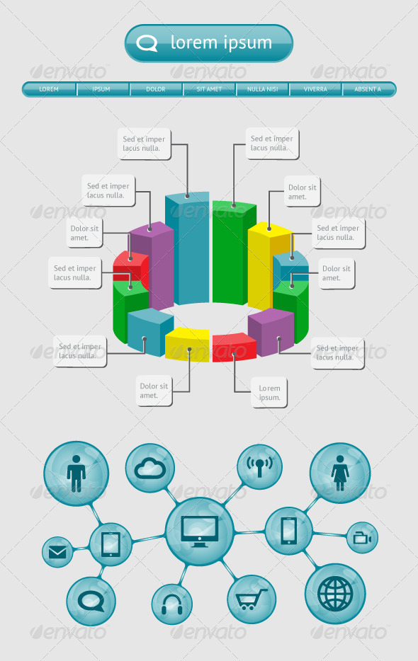 GraphicRiver Infographics and Web Elements 3955709