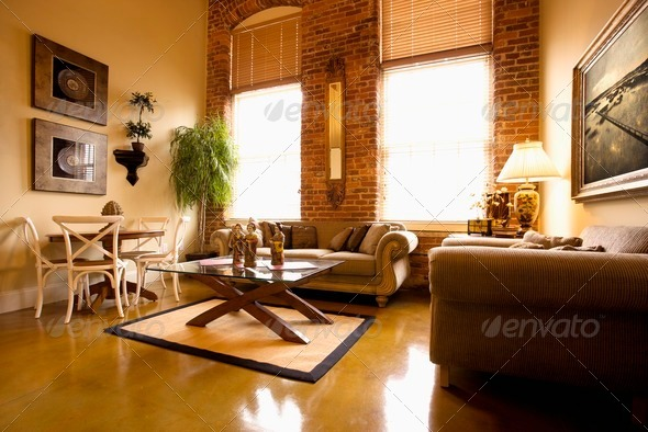 Living Room Interior - Stock Photo - Images