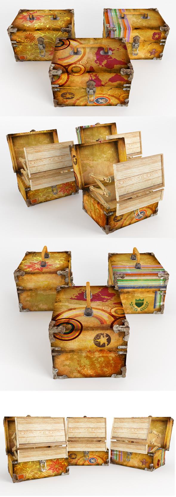 Vintage Cases - 3DOcean Item for Sale