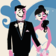 Bride & Groom Getting Married - GraphicRiver Item for Sale