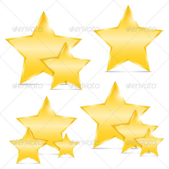 GraphicRiver Golden Stars 3956254