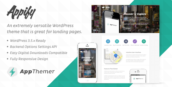 ThemeForest Appify iPhone Android App Landing Page Theme 3932430