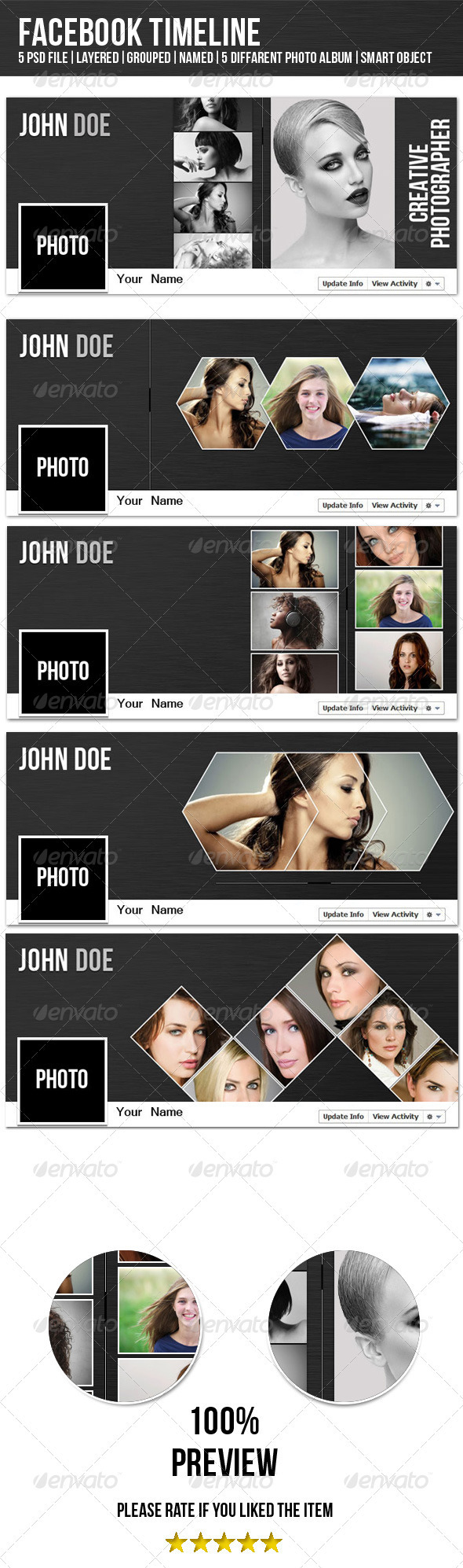 GraphicRiver Gray Fb Timeline 3956427