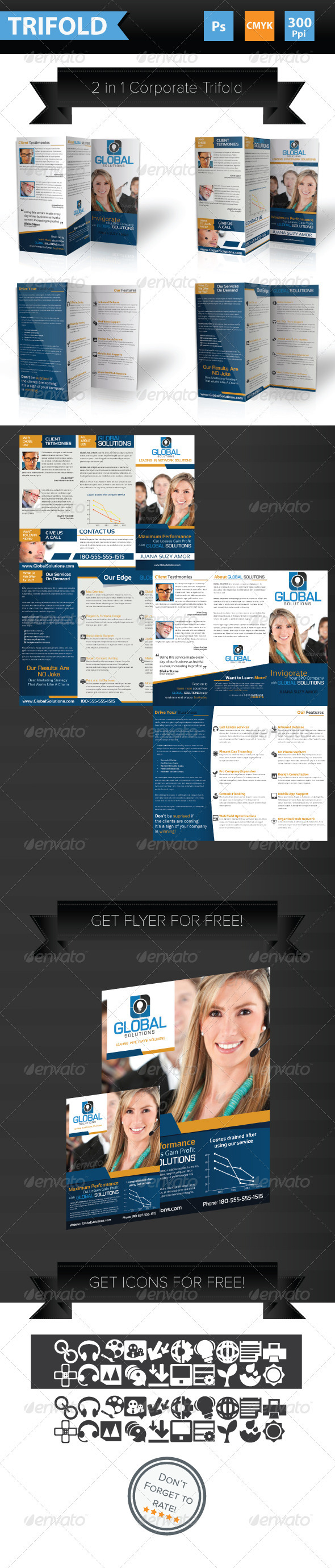 GraphicRiver 2 in 1 Corporate Broshure 3956620