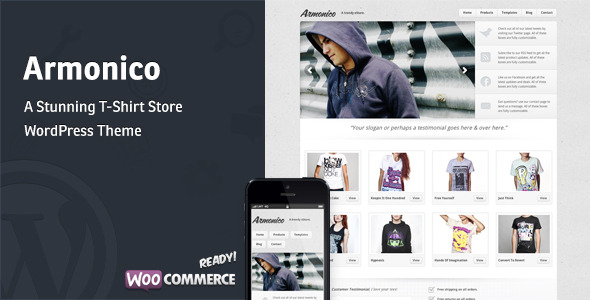 Armonico - A Stunning Tee Store WordPress Theme