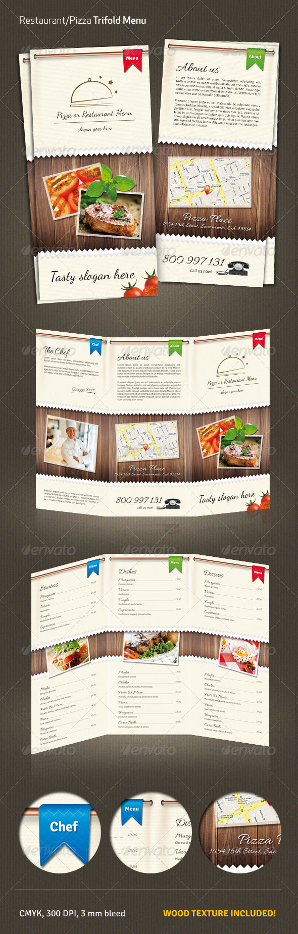 GraphicRiver Restaurant Pizza Menu #2 3956722