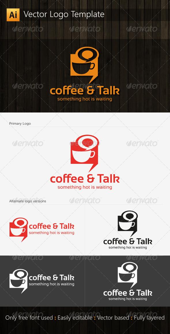 Coffee and Talk Logo - Food Logo Templates