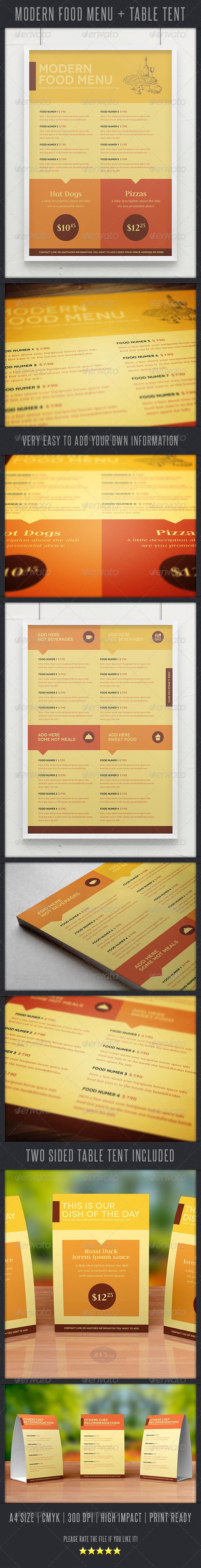 GraphicRiver Modern Food Menu 3956737