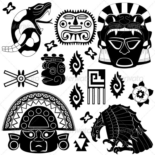 GraphicRiver Ancient American Elements 3861259