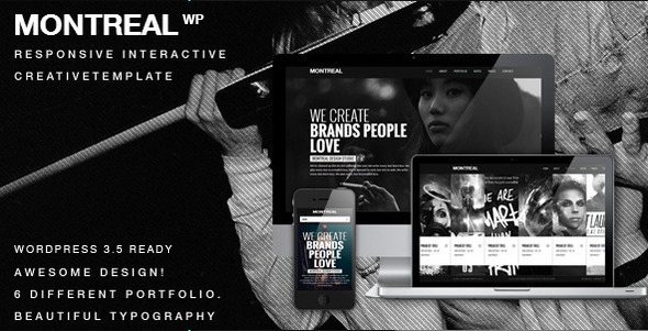 ThemeForest Montreal Interactive Creative Wordpress Theme 3957460