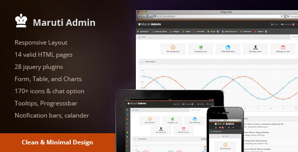 ThemeForest Maruti Admin 3957580