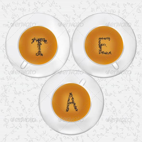 GraphicRiver Cups Of Tea 3957590