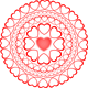 Love Rosette Within Tiny Hearts - GraphicRiver Item for Sale