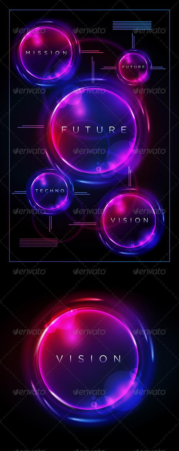 GraphicRiver Circle on Black Design Template 3958106