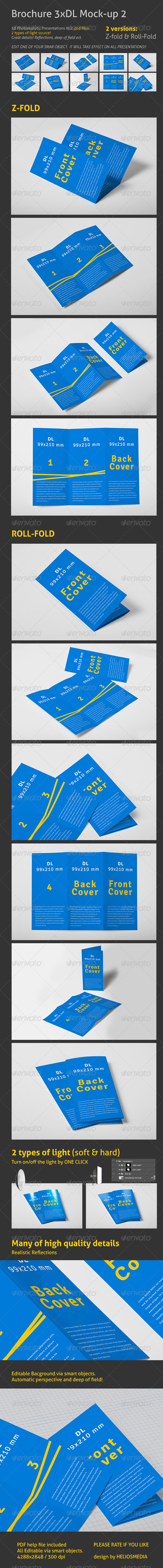 GraphicRiver Brochure 3xDL Mock-up 2 3958116