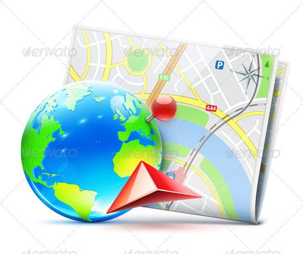 GraphicRiver global navigation concept 3958313