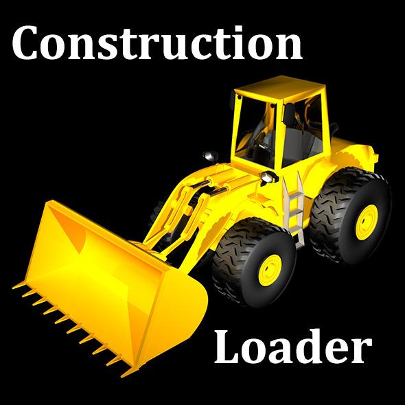 Construction Loader Truck - 3DOcean Item for Sale