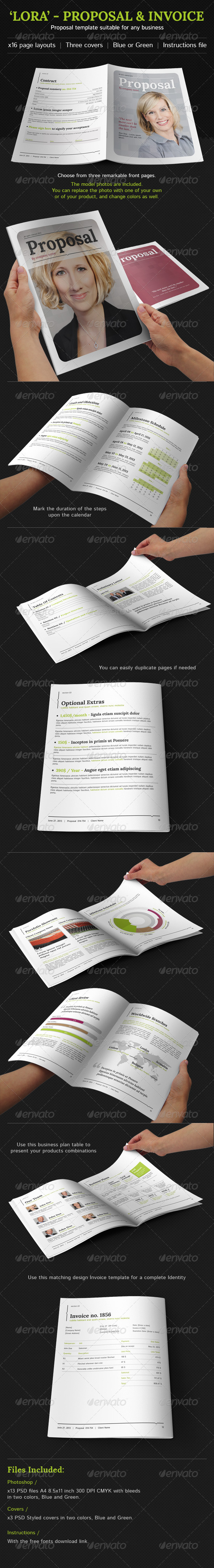 GraphicRiver Proposal And Invoice Suitable For Any Business 3958327