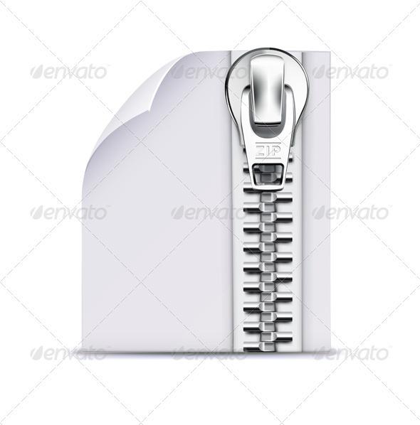 GraphicRiver zip file icon 3958346