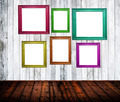 Empty room interior with colorful picture frames - PhotoDune Item for Sale