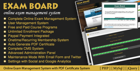 CodeCanyon Exam Board Online Exam Management System 3958639