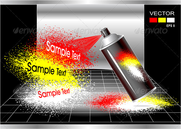 GraphicRiver Concept Aerosol Spray Painter 3958649