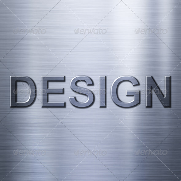 Design concept on metal background - Stock Photo - Images