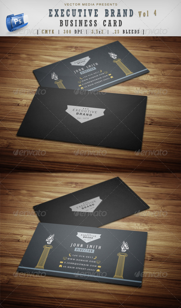 Executive Brand - Business Card [Vol.4] - Corporate Business Cards