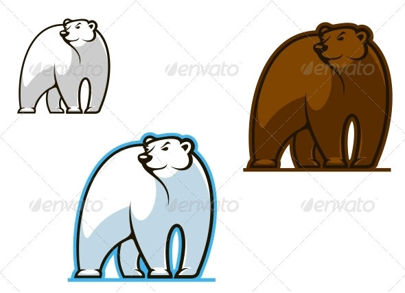 GraphicRiver Polar and Brown Bear 3958896