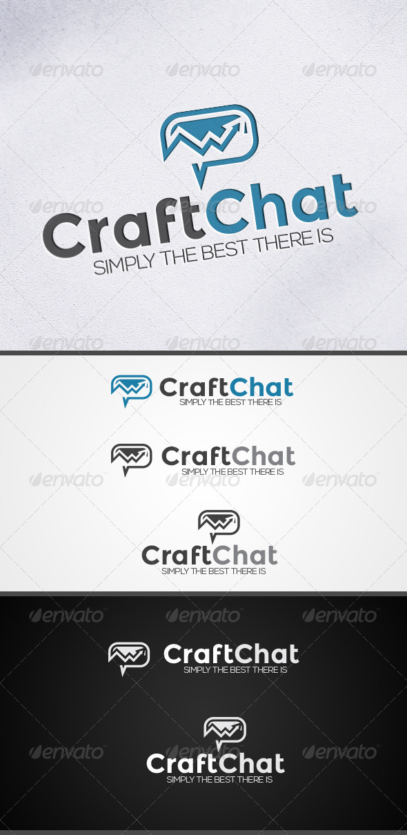 GraphicRiver CraftChat Chat and Communications Logo 3830563