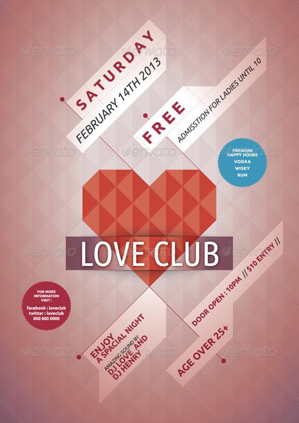 GraphicRiver LOVE CLUB 3959335