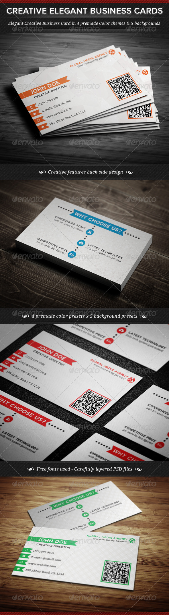 GraphicRiver Elegant Creative Business Cards Template 3959360