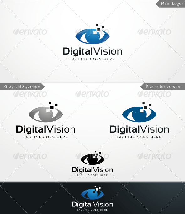 GraphicRiver Digital Vision Logo Template 3866452